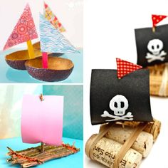 20 Fun & Creative Boat Crafts for Kids - Mum In The Madhouse Summer Crafts For Toddlers, Craft Activities For Kids, Toddler Crafts, Preschool Crafts, Diy For Kids, Scout Activities, 4 Kids, Summer Activities, Learning Activities