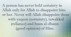 #Certainty in Allah