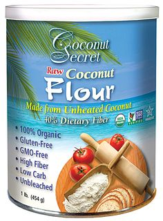 Coconut Secret Raw Coconut Flour Gluten Free...I total replaced wheat flour in my daily diet w/this (and almond flour). I thought it would be so difficult because of my carb addiction, but turns out I love it!
