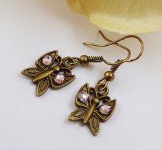 Süße Ohrringe in bronze mit Schmetterling Sommer von Schmucktruhe, €6.50