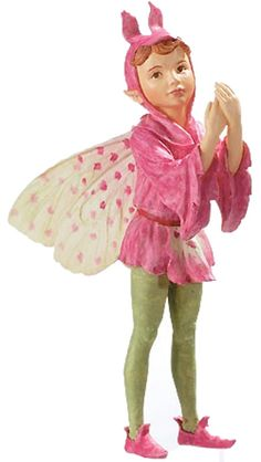 Orchis Fairy _$13.46 This tiny faerie is part of the Cicely Mary Barker Flower Collection.