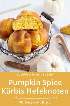 Kürbis Hefezopf mit Pumpkin Spice gewürzt sind für mich die Brötchen des Herbstes. Die mit Zimt und Nelkon gewürtzes luftiges Kürbis Hefeteig sind ganz einfach zu machen mit Kürbispüree. Die Brötchen lassen sich süss oder Salzig belegen und sind ein Traum. Easy Peasy, Diy Food, Bread Baking, Good Food, Favorite Recipes, Vegan, Breakfast, Sweet, Hallo Winter