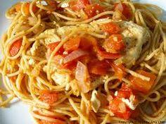 Spaghetti with Chicken Sauce