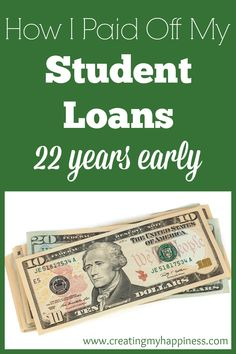 How I Paid Off My Student Loans 22 Years Early Are you burdened by student loan debt, or any kind of debt? Read on for realistic, manageable steps you can take to pay off your loans early and save money - Another! Paying Off Mortgage Faster, Pay Off Mortgage Early, Paying Off Student Loans, Student Loan Debt, Ways To Save Money, Money Saving Tips, Money Tips, Unsecured Loans, Budget Planer