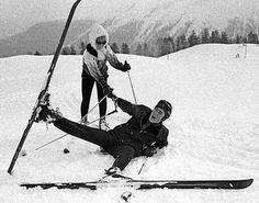 Cynthia and John skiing