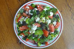 Spicy Veggie Salad With Blackberries