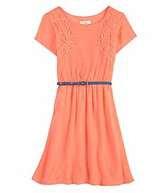 GB Girls 716 LaceInsert Dress #Dillards Possible if dressed up with sash instead of belt