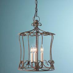 Iron Scroll Shabby Cottage Lantern, $225 Shades of Light