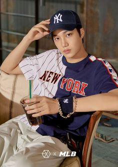 180313 #EXO #KAI @ MLB Official Website: < MLB X EXO >