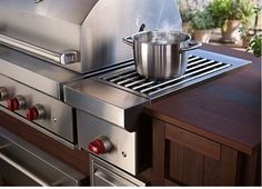 Built in side burner grill add on for Lowcountry outdoor kitchen at Plugs Appliance Center
