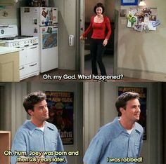 Friends Funny Moments, Friends Tv Quotes, Serie Friends, Friends Scenes, Funny Friend Memes, Friends Episodes, Friends Cast, Funny Memes, 9gag Memes