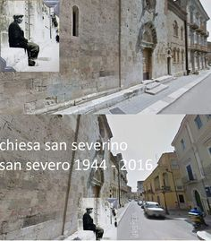 Via Angelo Fraccacreta, San Severo, Italy, as my father saw it during World War Two and a photo of the same place today. Present day photo courtesy of Saverio d'Incalci, San Severo, Italy | World War Two