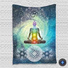 7 Chakra Meditation Tapestry