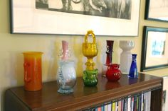 A collection of Polish modernist art glass from the 1960s and 1970s including Zbigniew Horbowy and Jerzy Słuczan-Orkusz