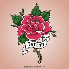 Rose conception de fleur Vecteur gratuit