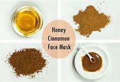 Honey cinnamon nutmeg face mask for acne. I used 2 Tbsp honey, 1 tsp cinnamon, 1 tsp nutmeg. Thanks @Coco Shakeel !