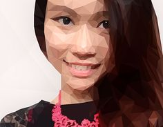 """Check out new work on my @Behance portfolio: """"Low Poly Self Portrait"""" http://on.be.net/1LCu49p"""