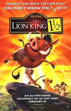 """While the original Lion King movie was based on """"Hamlet,"""" The Lion King 1 1/2 film clearly takes its inspiration from the play """"Rosencrantz and Guildenstern are Dead"""" which features the events of """"Hamlet"""" through the eyes of two minor characters."""