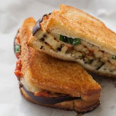 Grilled Eggplant Parmesan Sandwich