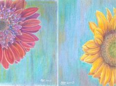 Painting flowers with colored pencils - How to.