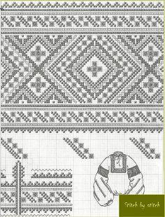Жіноча сорочка Полтавська об-ть Folk Embroidery, Cross Stitch Embroidery, Embroidery Patterns, Cross Stitch Patterns, Color Me Mine, Stitch Design, Cross Stitching, Needlework, Weaving