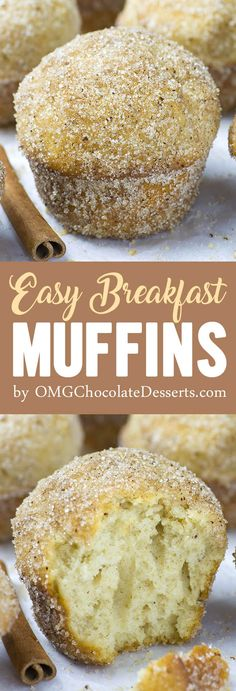 Looking for a quick and easy make ahead breakfast recipe? Easy Breakfast Muffins are perfect breakfast idea for busy mornings when you need breakfast on the go.