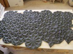 Slip cast art at Kohler Arts/Industry Residency
