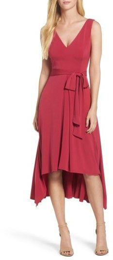 Women's Vince Camuto Sleeveless High/low Dress Great dress to show off the legs. I love the waistline and the hi low cut of the dress.  #affiliate
