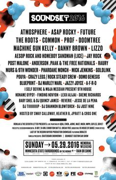 Soundset drops 2016 lineup with Atomosphere, A$AP Rocky, The Roots  #soundset2016 Soundset Festival
