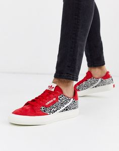 adidas Originals – Continental Vulc – Buty sportowe ze wzorem w cętki Adidas Outfit, Shoe Box, Fashion Prints, Adidas Originals, Trainers, Latest Trends, Asos, Slip On, My Style