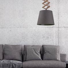 Lampa wisząca Tosca M z ramieniem nożycowym Wall Lights, Lighting, Home Decor, Scissors, Light Fixture, Fabric, 30 Day, Scandinavian Pendant Lighting, Plywood