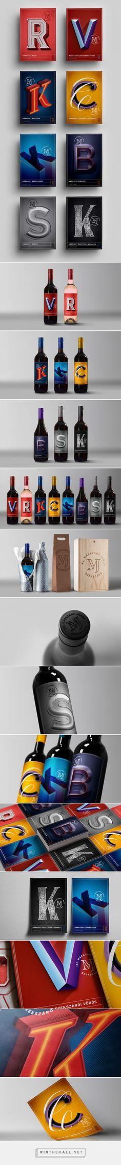 Márkvárt Winery wine label design by Robinson Cursor - https://www.packagingoftheworld.com/2018/03/markvart-winery.html
