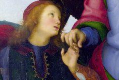 Perugino - Archangel Raphael with Tobias, detail (1499) | Flickr - Photo Sharing!