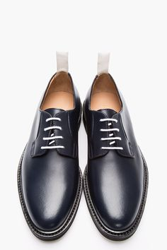 COMMON PROJECTS Navy Leather Derbys