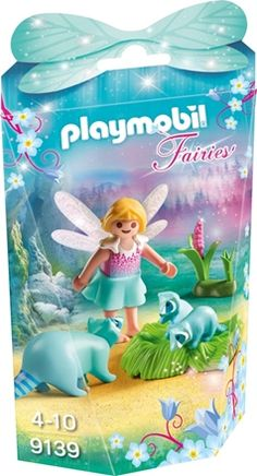 Playmobil 9139 Fairy Girl with Raccoons Playset, Multicolor Baby Doll Nursery, Baby Dolls, Pokemon, Pikachu, Lego, Lunch Box, Fairy, Disney Princess, Disney Characters