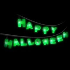 Iluminate your haunted house with these Happy Halloween letter string lights! Ensure your halloween party is one to remember. Requires 2 x AA batteries (not included). This is a halloween decoration, not a toy. Please keep away from children. Halloween Goodies, Halloween 2014, Halloween Items, Halloween Party Decor, Happy Halloween, Halloween Letters, Thing 1, String Lights, Neon Signs