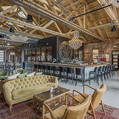 Lounge Design, Bar Lounge, Cafe Design, Wine Bar Design, Brewery Interior, Restaurant Interior Design, Outdoor Restaurant Design, Farmhouse Restaurant, Hotel Lobby
