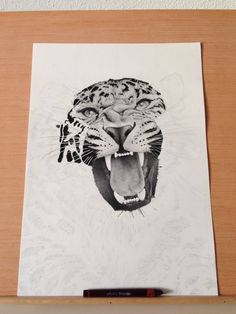 Leopard - 0.10mm dots & lines. on Behance by Xavier Casalta