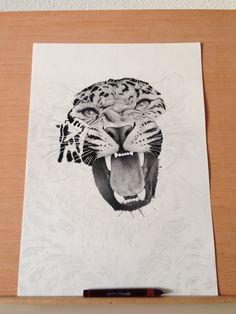 Leopard - 0.10mm dots & lines. on Behance by Xavier Casalta