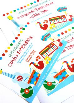Music themed Invitation for Birthday New Music Birthday Jam Party Printables Invittaions Music Theme Birthday, Kids Birthday Themes, Party Themes For Boys, Kids Birthday Party Invitations, Boy Birthday Parties, Twin Birthday, Party Printables, Printable Invitations, First Birthdays