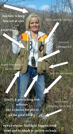 I want to do a layout like this of me geocaching.