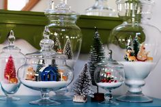 christmas decorations in glass containers   25 DIY Apothecary Jars- What to Fill? - Craftionary