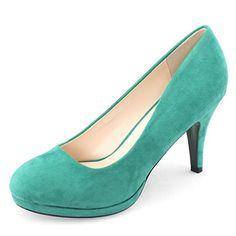 Shoezy Pump Platform Stiletto Shoes Women's Closed Toe High Heel Office Work Comfort Suede Green Size US8 Shoezy http://www.amazon.com/dp/B00N4R49GW/ref=cm_sw_r_pi_dp_Q-LBub0TNPDA4