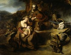 The Rest during the Flight into Egypt // 1644 // Ferdinand Bol // Staatliche Kunstsammlungen Dresden // #HolyFamily Spanish Painters, Dutch Painters, Rembrandt, Ferdinand Bol, Religion, Dutch Golden Age, Dutch Artists, French Photographers, Old Art