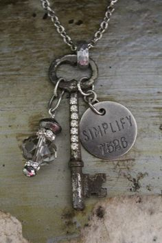 SIMPLIFY Vintage Key Necklace by BelleVia on Etsy, $34.00