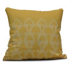 E by Design Intercoastal Waterway Watermark Decorative Pillow Yellow - PG773YE10-20