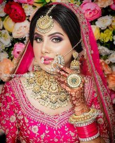 Asian Bridal Makeup, Indian Wedding Makeup, Indian Makeup, Indian Beauty, Arabic Makeup, Indian Inspired Makeup, Indian Bridal Hair, Best Bridal Makeup, Moda Indiana