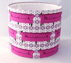 Fabric Lampshade by Shady Lady Lampshades featuring Tufted Tweets by Laurie Wisbrun