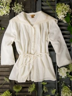 Claudia Ladies Blouse from April Cornell. It looks so Edwardian...and it's on sale. Hmmm...