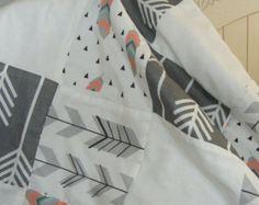 Premium Patchwork Modern Baby Bedding Crib by ThePincushionStore